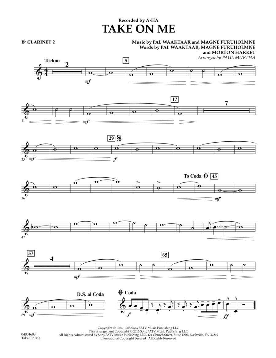 Take on Me - Bb Clarinet 2