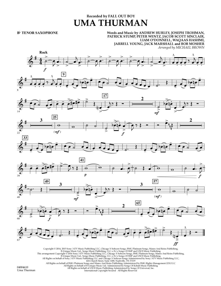Uma Thurman - Bb Tenor Saxophone
