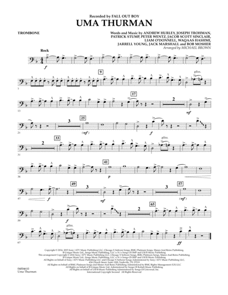Uma Thurman - Trombone