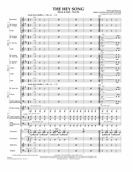 The Hey Song (Rock & Roll Part II) (Flex-Band) - Conductor Score (Full Score)