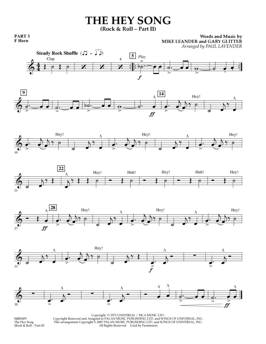 The Hey Song (Rock & Roll Part II) (Flex-Band) - Pt.3 - F Horn