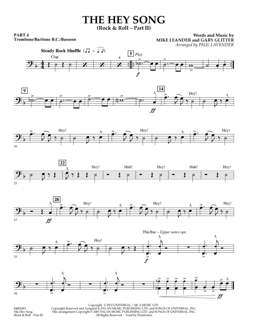 The Hey Song (Rock & Roll Part II) (Flex-Band) - Pt.4 - Trombone/Bar. B.C./Bsn.