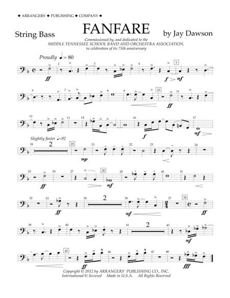 Fanfare - String Bass