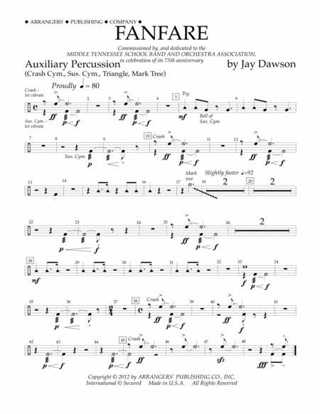 Fanfare - Aux. Percussion