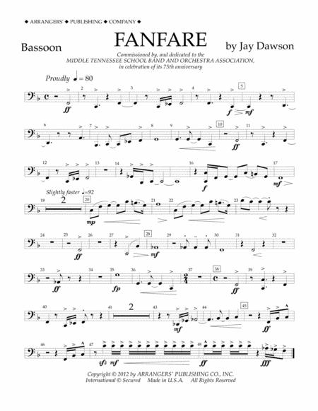 Fanfare - Bassoon