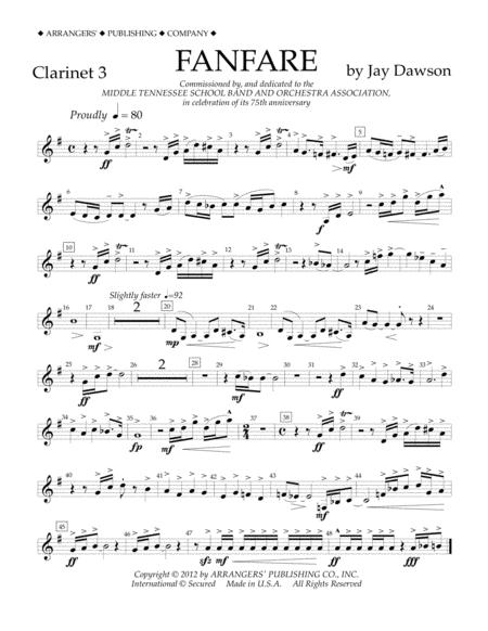 Fanfare - Clarinet 3