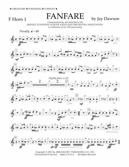 Fanfare - F Horn 1