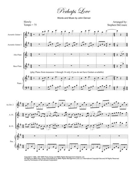 Perhaps Love (Flute Quartet)