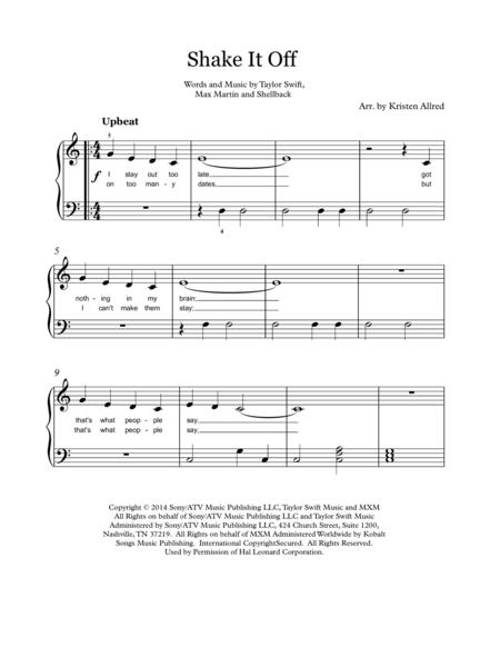 Shake It Off - Easy Piano