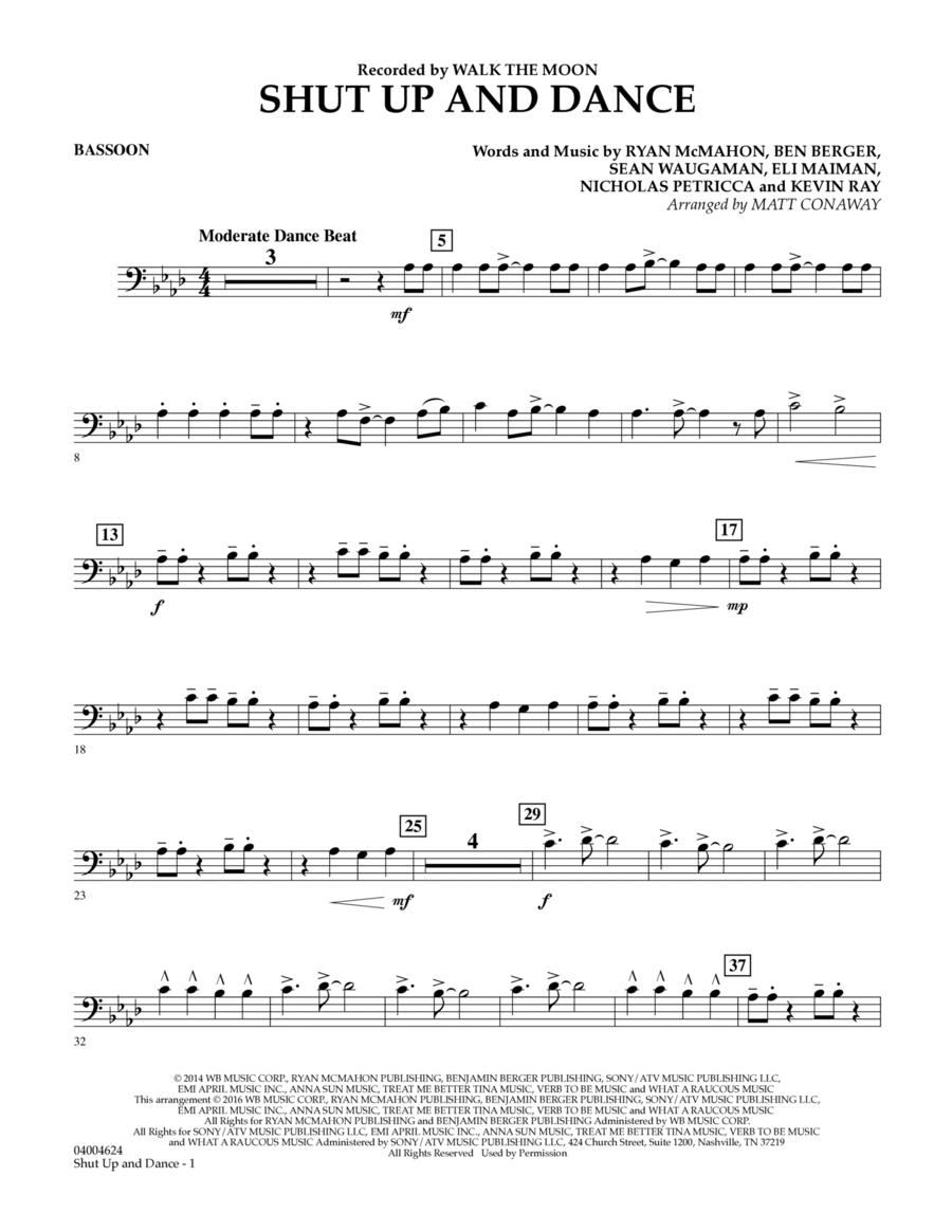 Shut Up And Dance - Bassoon