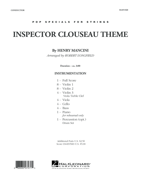 Inspector Clouseau Theme (from The Pink Panther Strikes Again) - Conductor Score (Full Score)
