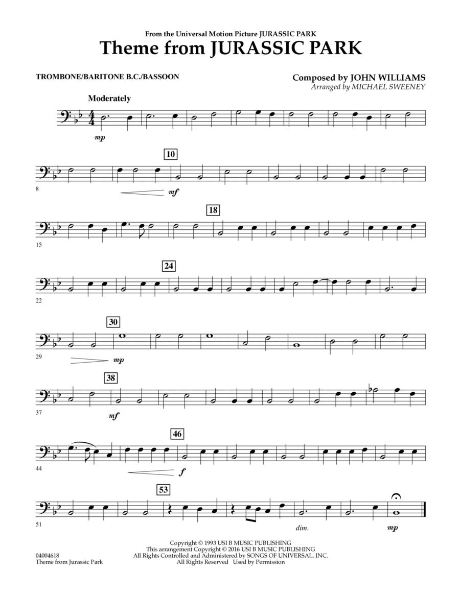 Theme from Jurassic Park - Trombone/Baritone B.C./Bassoon