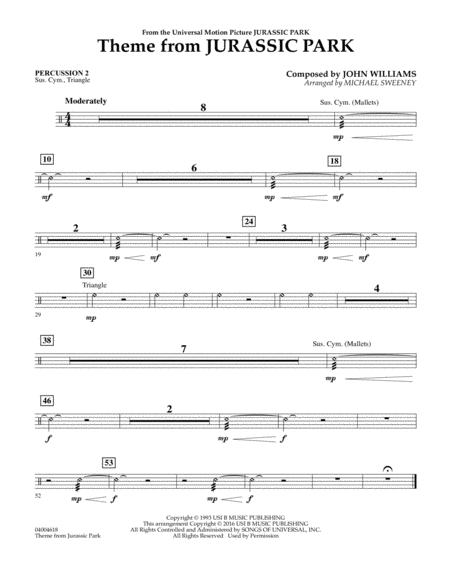 Theme from Jurassic Park - Percussion 2