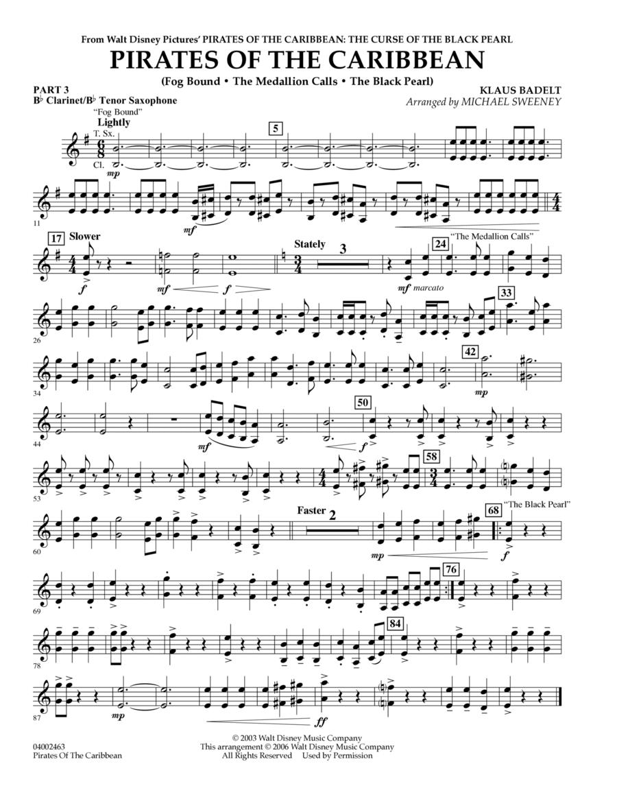 Pirates Of The Caribbean (Flex-Band) - Pt.3 - Bb Clarinet/Tenor Sax
