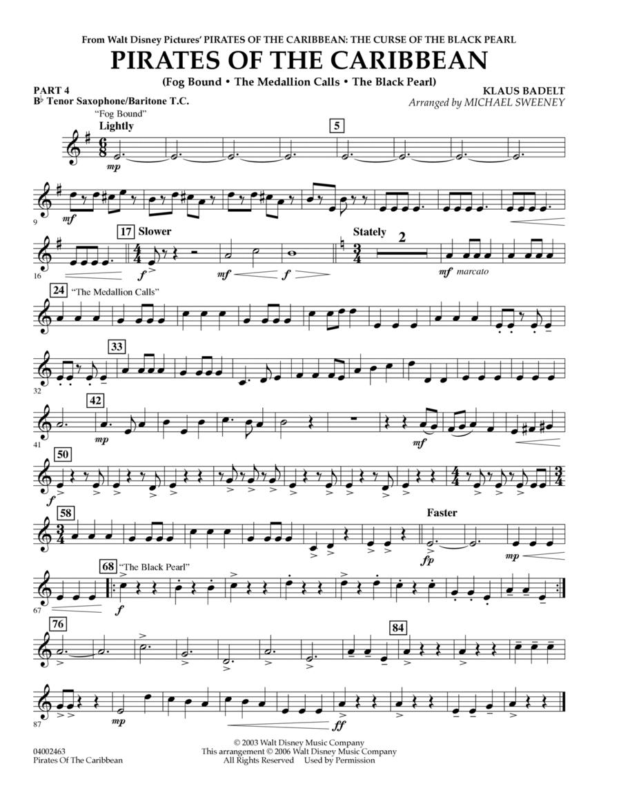 Pirates Of The Caribbean (Flex-Band) - Pt.4 - Bb Tenor Sax/Bar. T.C.