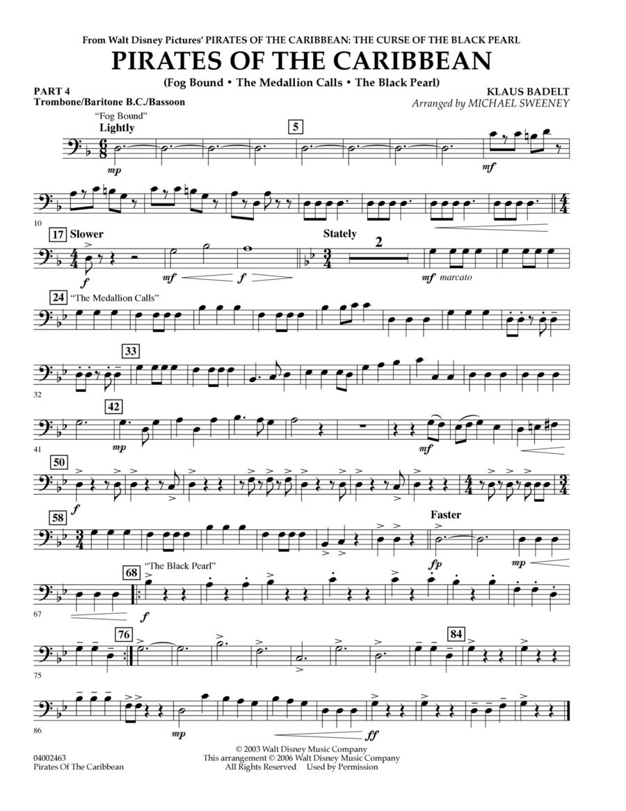Pirates Of The Caribbean (Flex-Band) - Pt.4 - Trombone/Bar. B.C./Bsn.