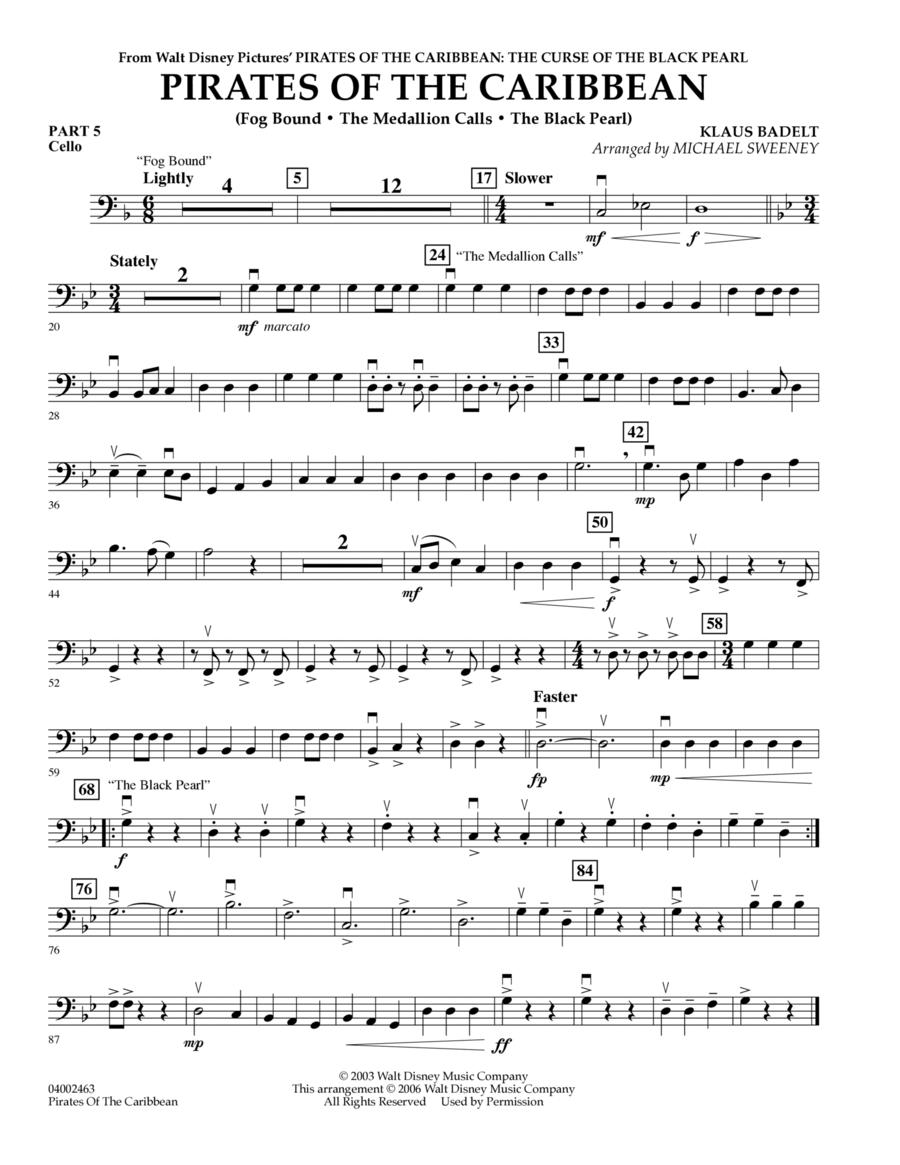 Pirates Of The Caribbean (Flex-Band) - Pt.5 - Cello