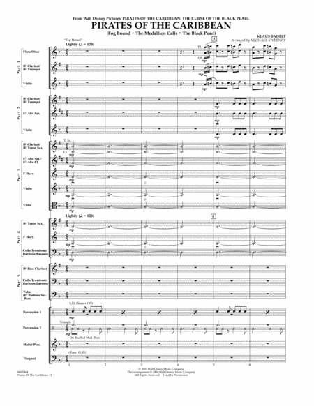 Pirates Of The Caribbean (Flex-Band) - Conductor Score (Full Score)