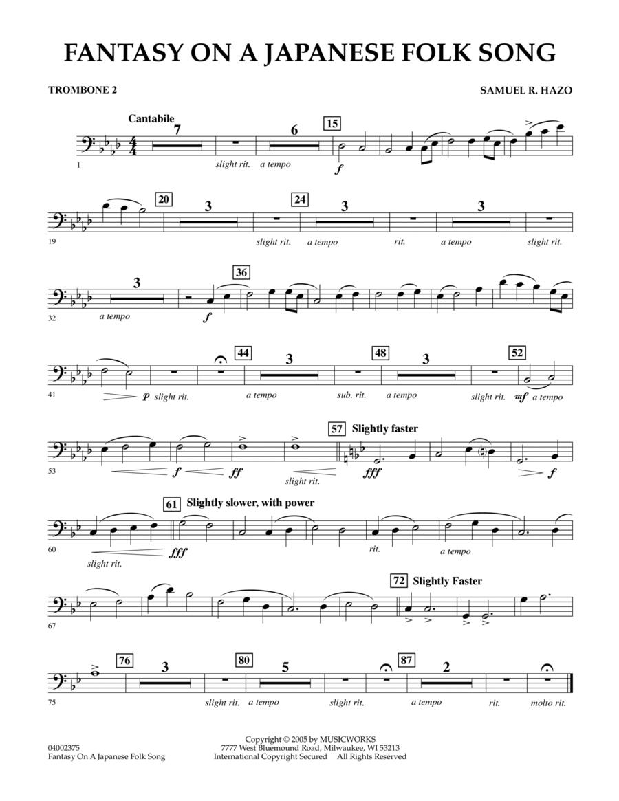 Fantasy On A Japanese Folk Song - Trombone 2
