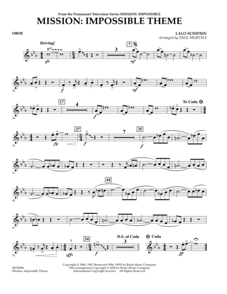 Mission: Impossible Theme - Oboe