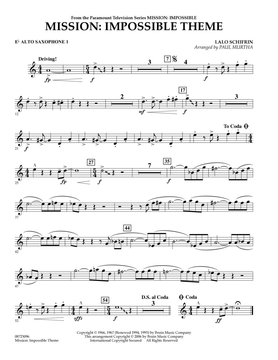 Mission: Impossible Theme - Eb Alto Saxophone 1