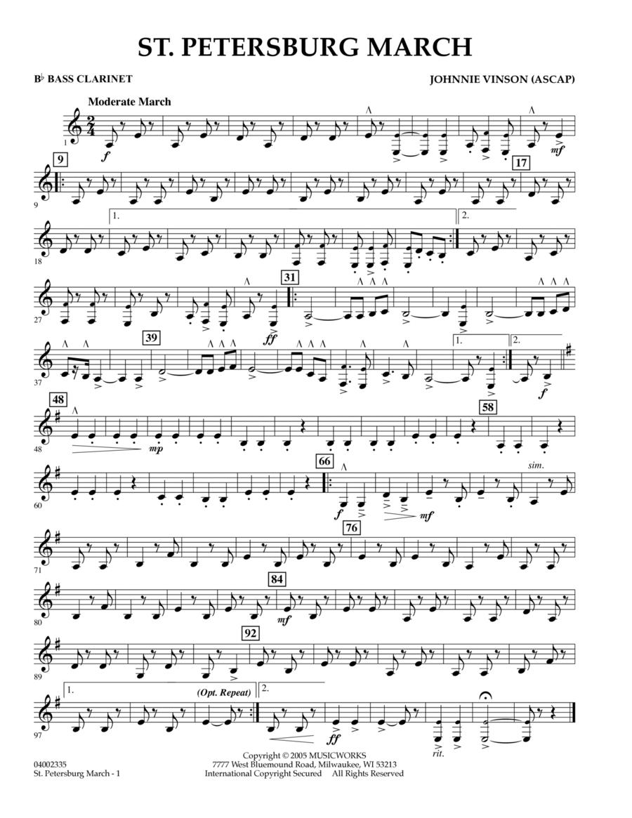 St. Petersburg March - Bb Bass Clarinet