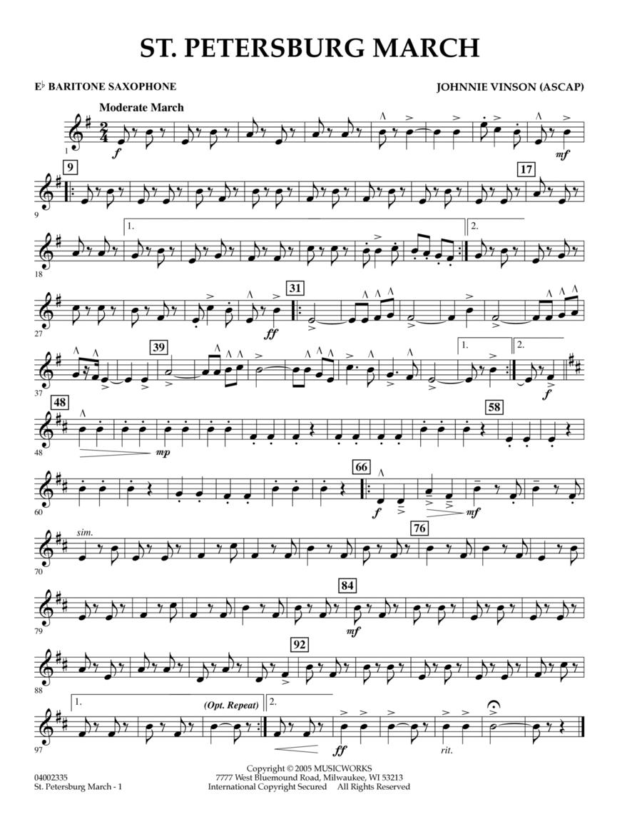 St. Petersburg March - Eb Baritone Saxophone