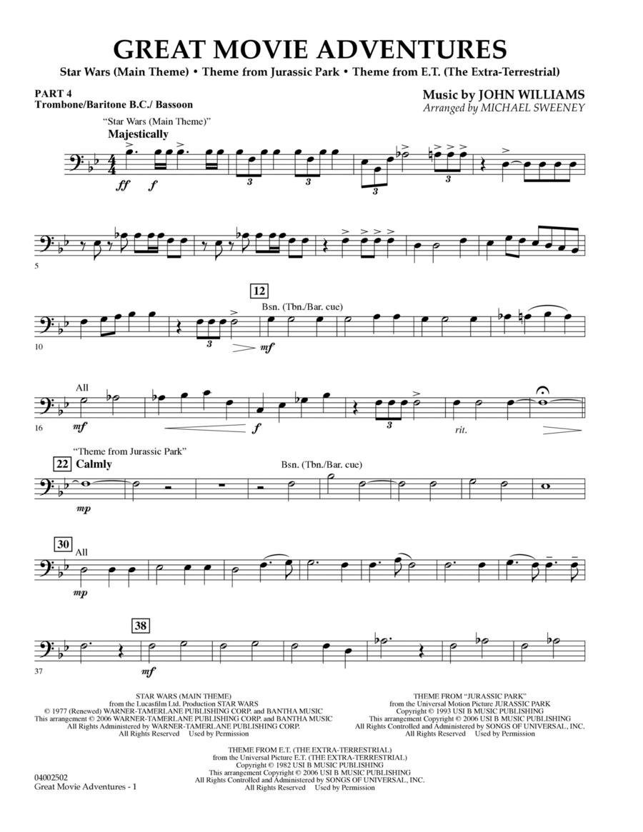 Great Movie Adventures (Flex-Band) - Pt.4 - Trombone/Bar. B.C./Bsn.