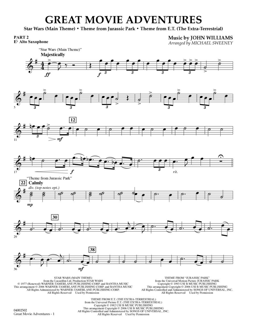 Great Movie Adventures (Flex-Band) - Pt.2 - Eb Alto Saxophone