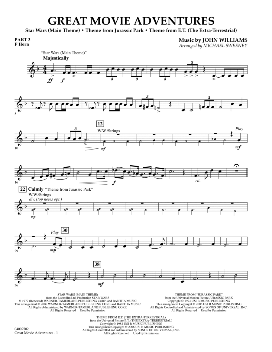 Great Movie Adventures (Flex-Band) - Pt.3 - F Horn