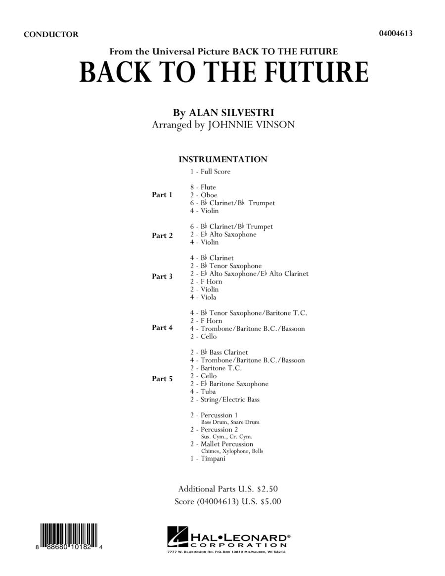 Back to the Future (Main Theme) - Conductor Score (Full Score)
