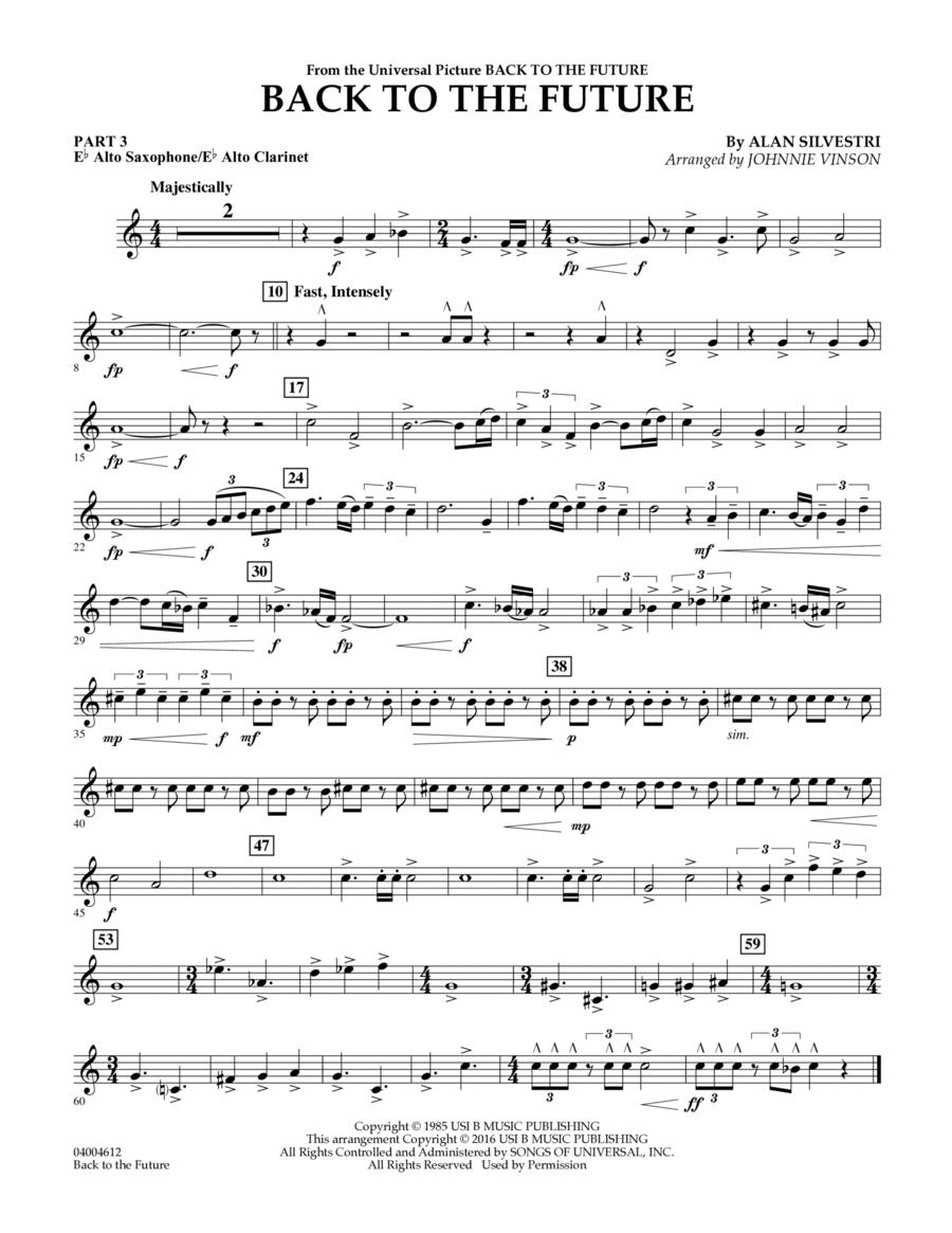 Back to the Future (Main Theme) - Pt.3 - Eb Alto Sax/Alto Clar.