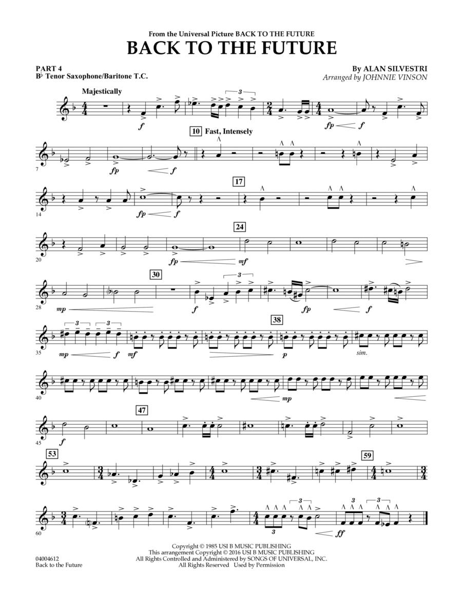 Back to the Future (Main Theme) - Pt.4 - Bb Tenor Sax/Bar. T.C.