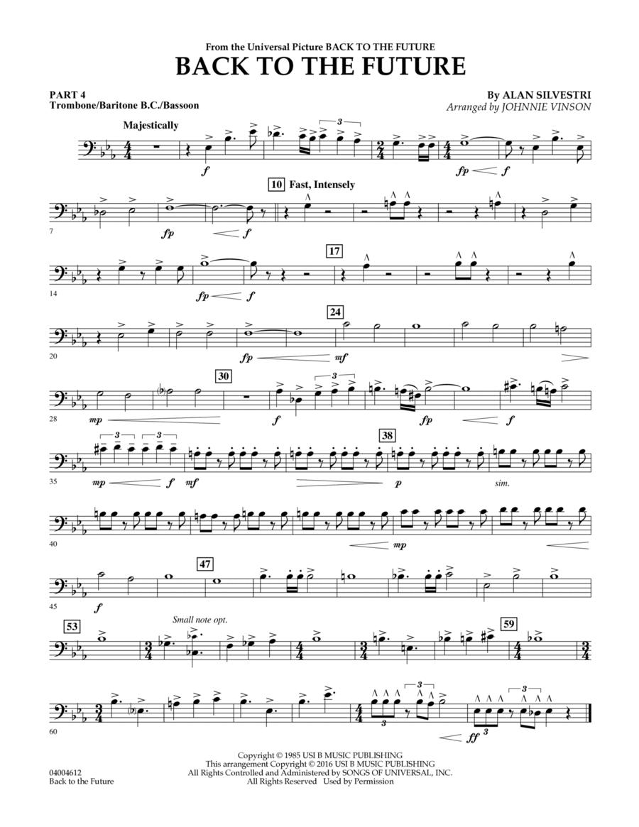 Back to the future main theme pt 4 trombone bar b c bsn