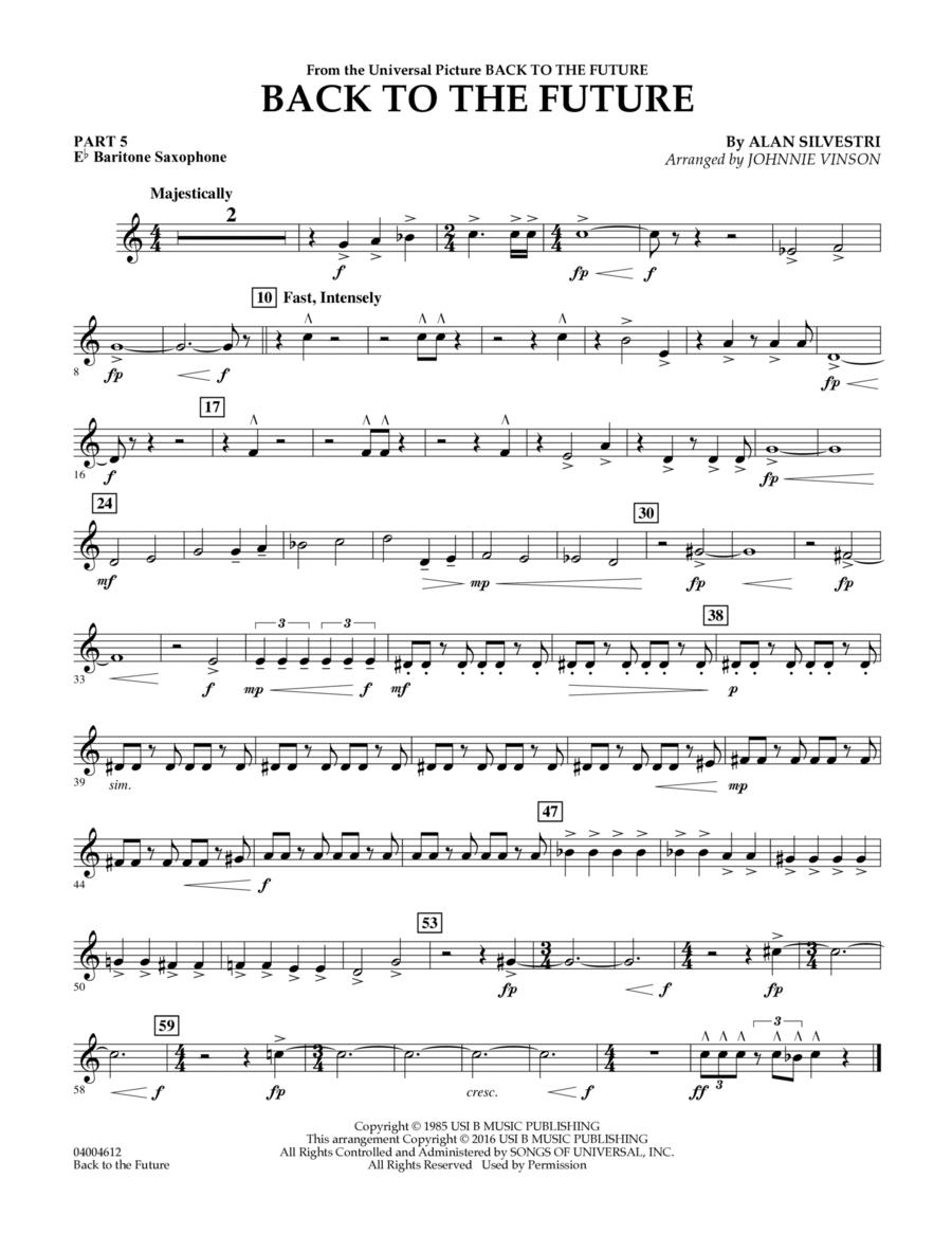 Back to the Future (Main Theme) - Pt.5 - Eb Baritone Saxophone