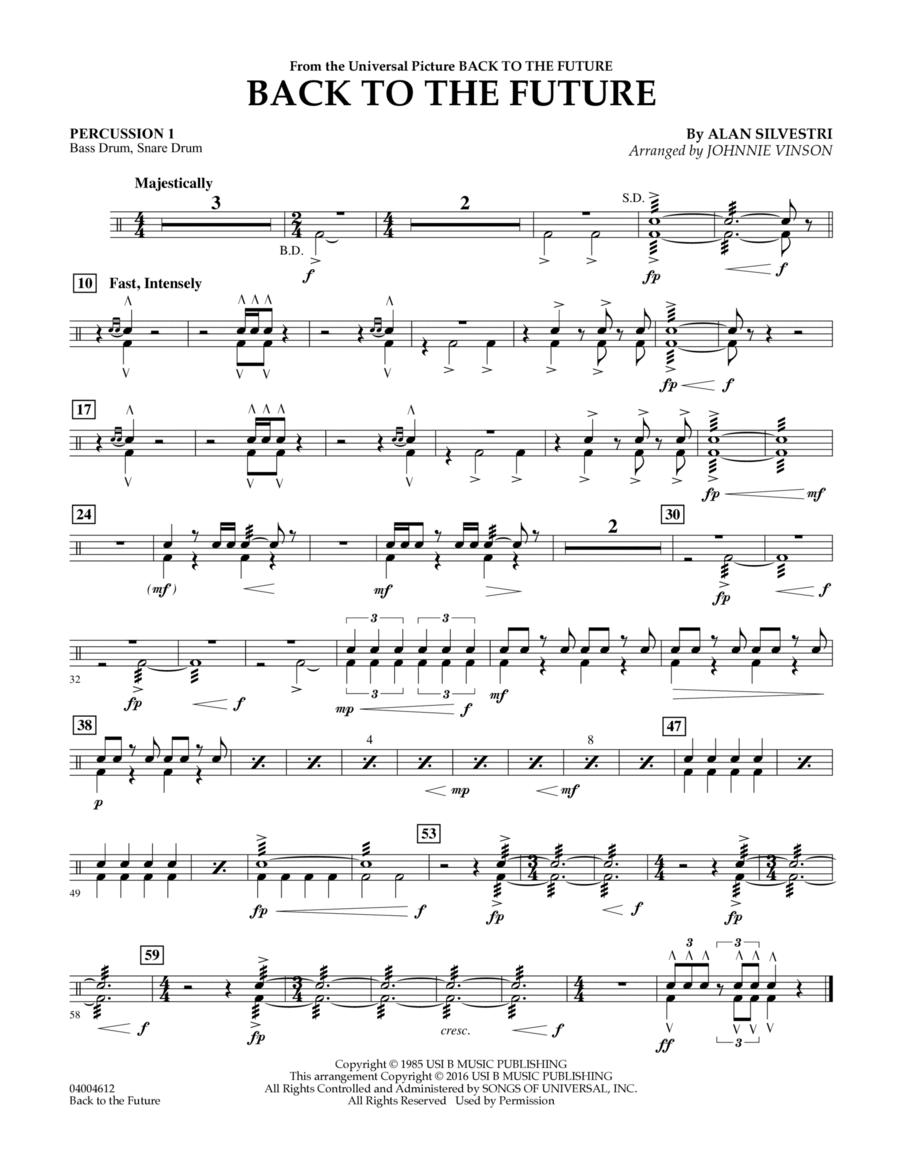 Back to the Future (Main Theme) - Percussion 1