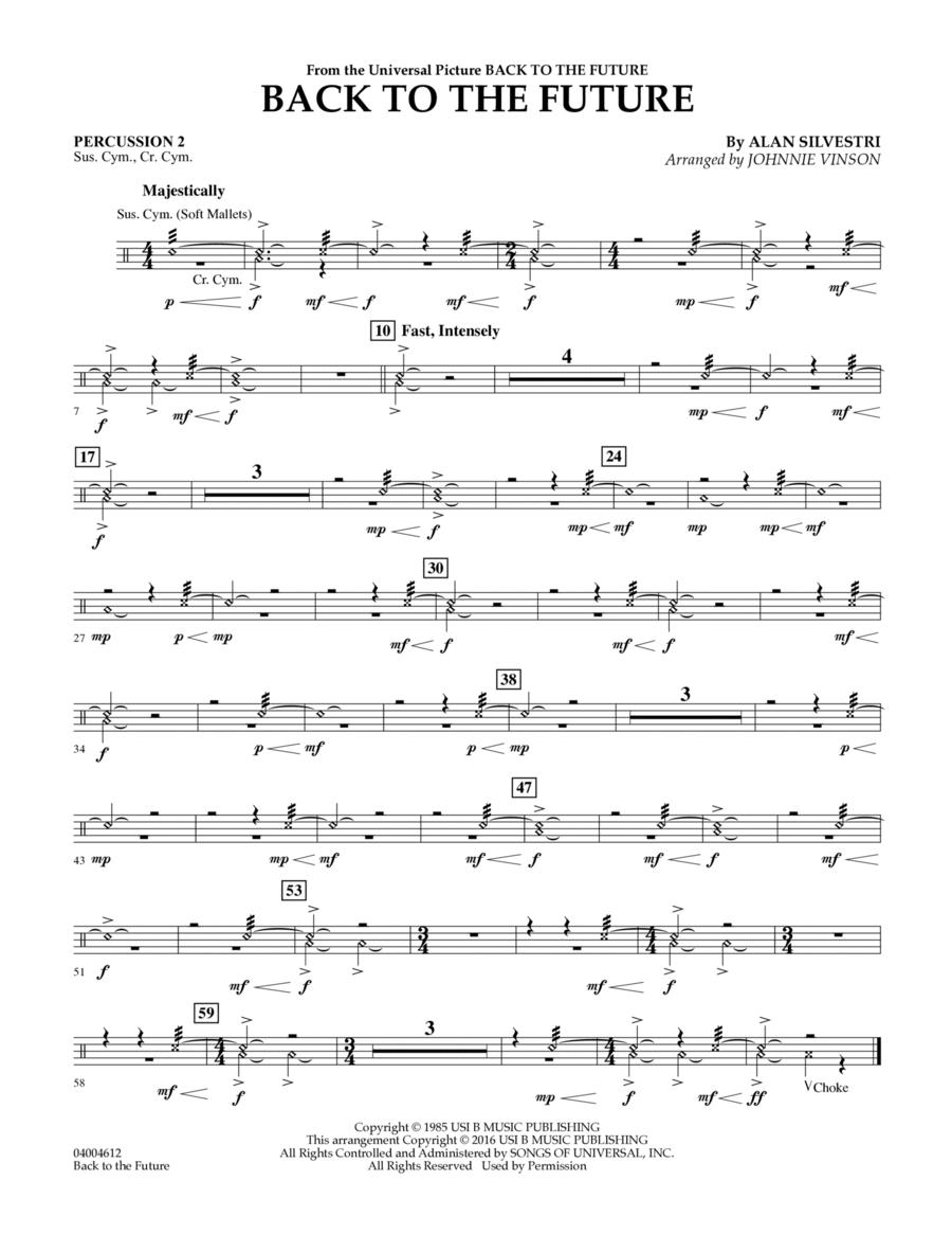 Back to the Future (Main Theme) - Percussion 2