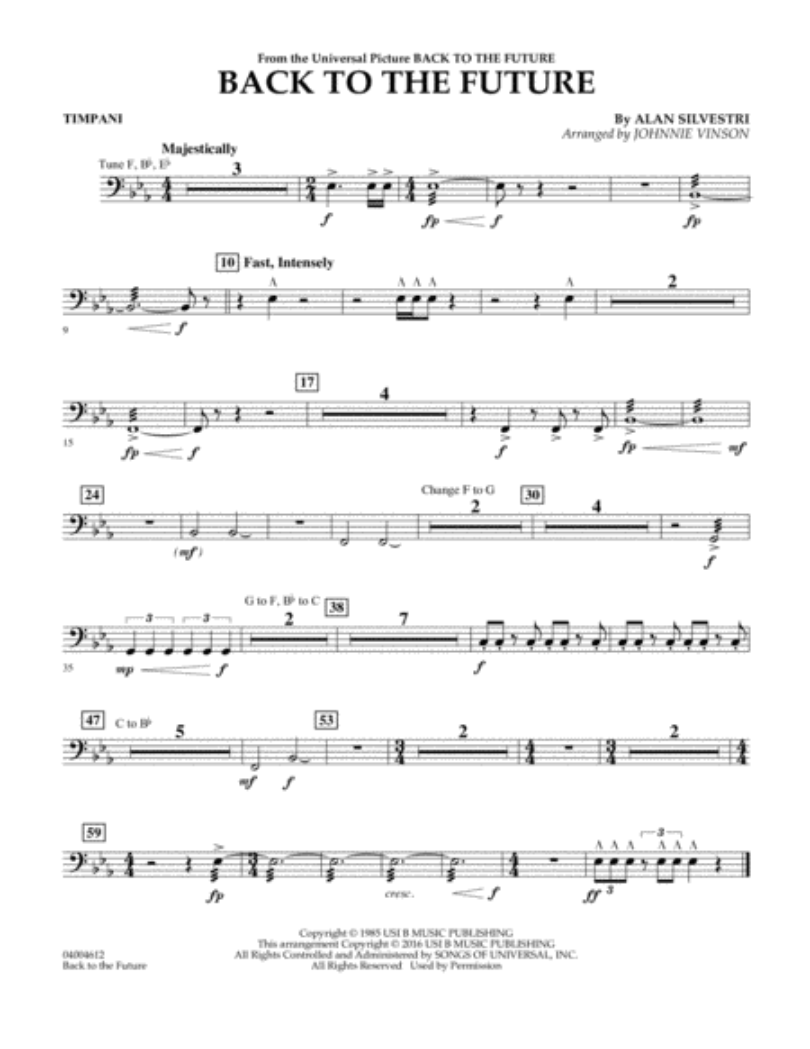Back to the Future (Main Theme) - Timpani