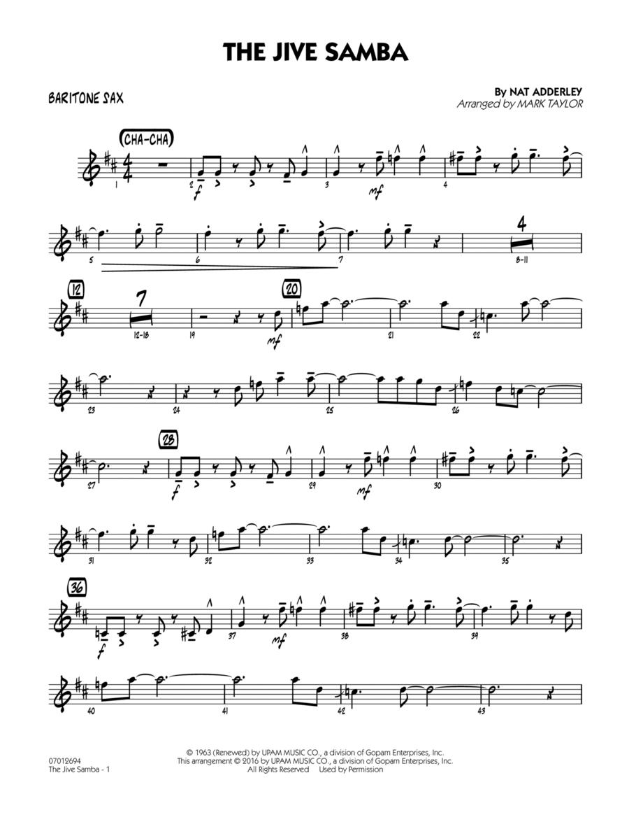 The Jive Samba - Baritone Sax