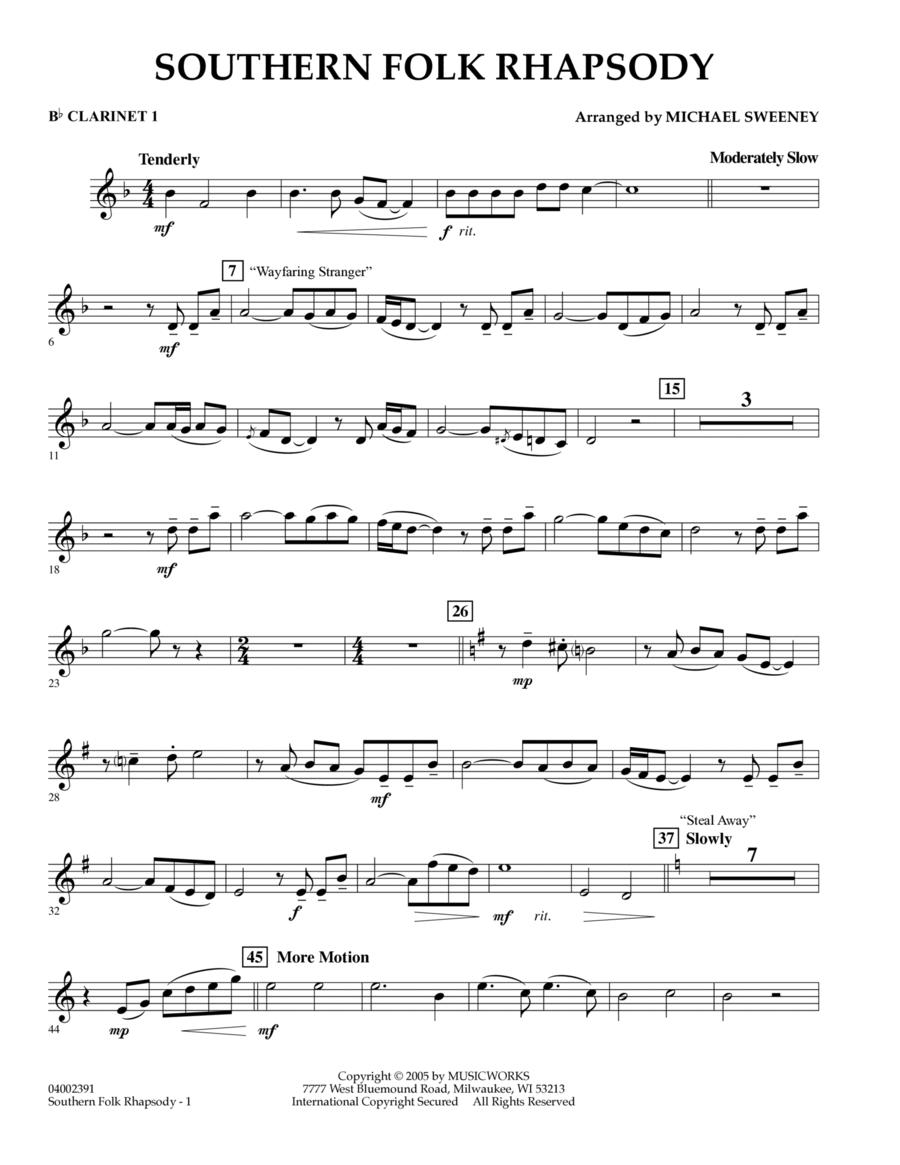 Southern Folk Rhapsody - Bb Clarinet 1