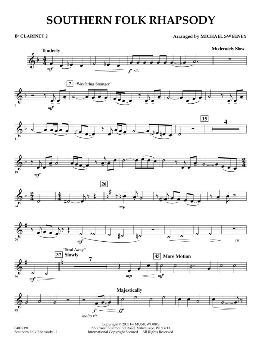 Southern Folk Rhapsody - Bb Clarinet 2