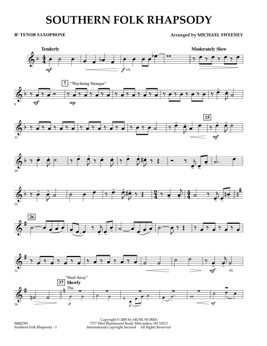 Southern Folk Rhapsody - Bb Tenor Saxophone