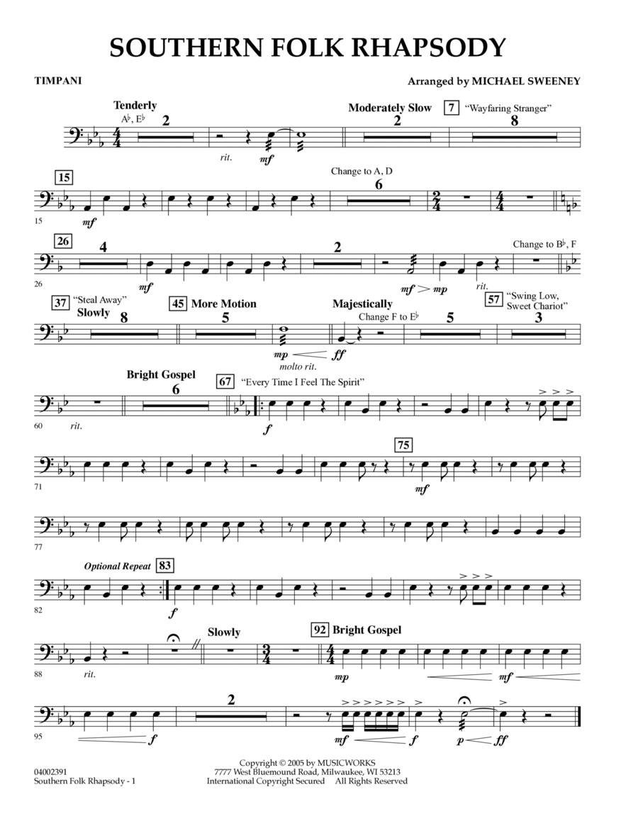 Southern Folk Rhapsody - Timpani