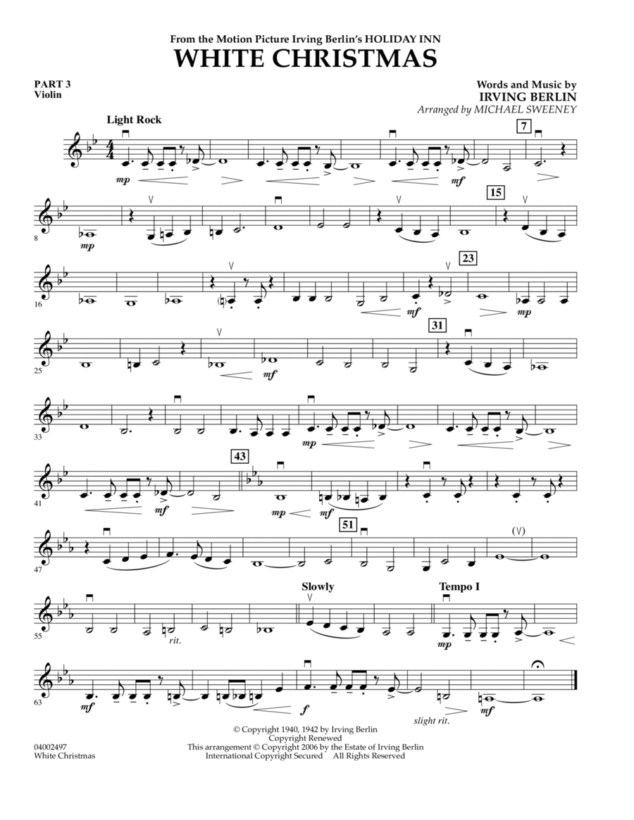 White Christmas (Flex-Band) - Pt.3 - Violin