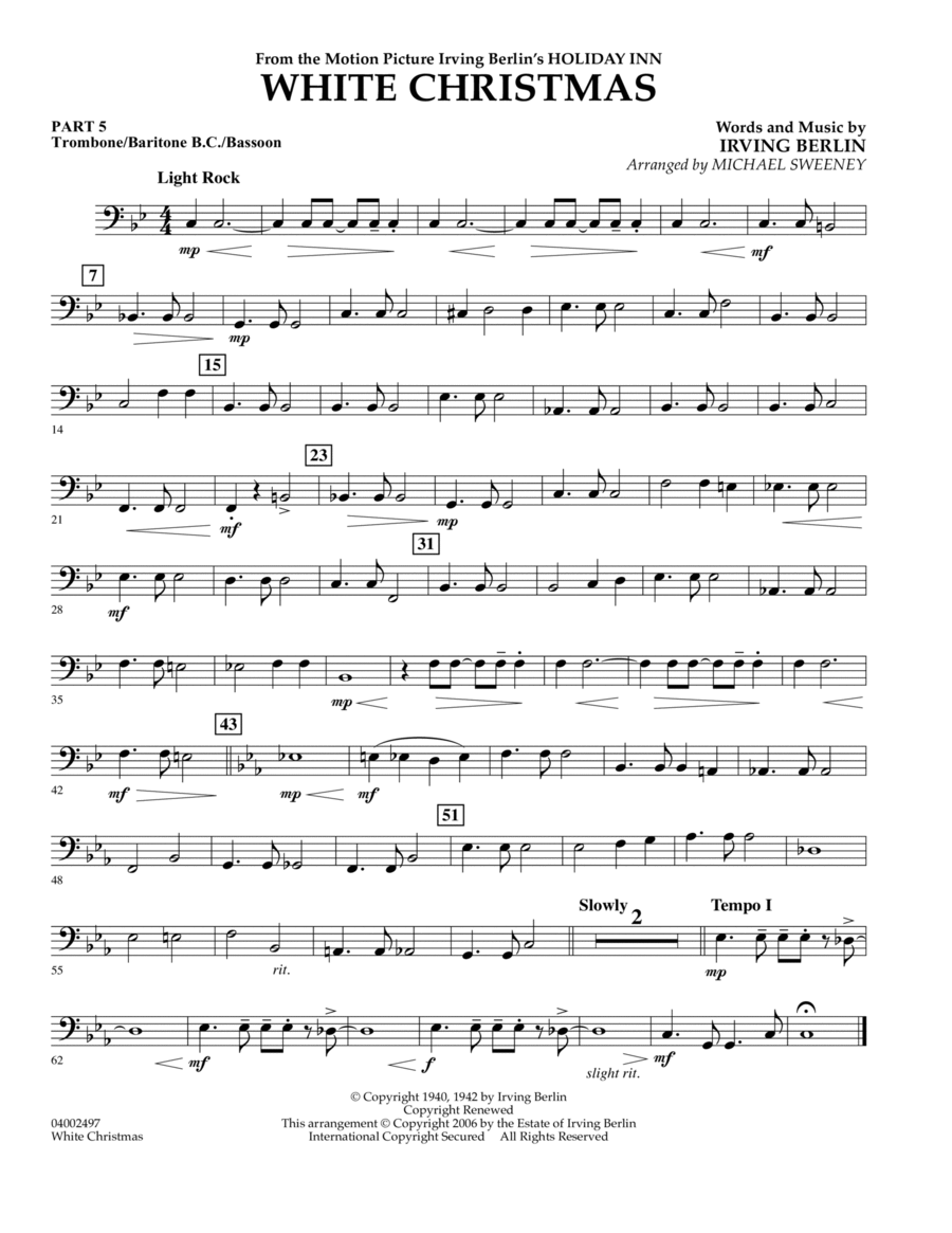 White Christmas (Flex-Band) - Pt.5 - Trombone/Bar. B.C./Bsn.