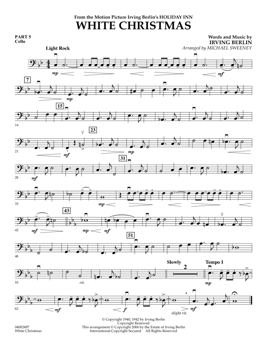White Christmas (Flex-Band) - Pt.5 - Cello