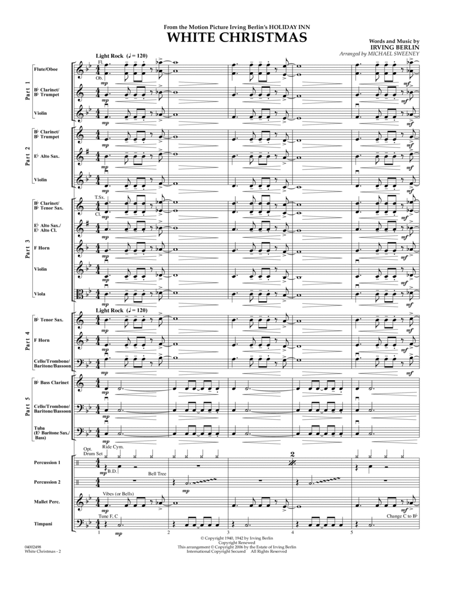 White Christmas (Flex-Band) - Conductor Score (Full Score)