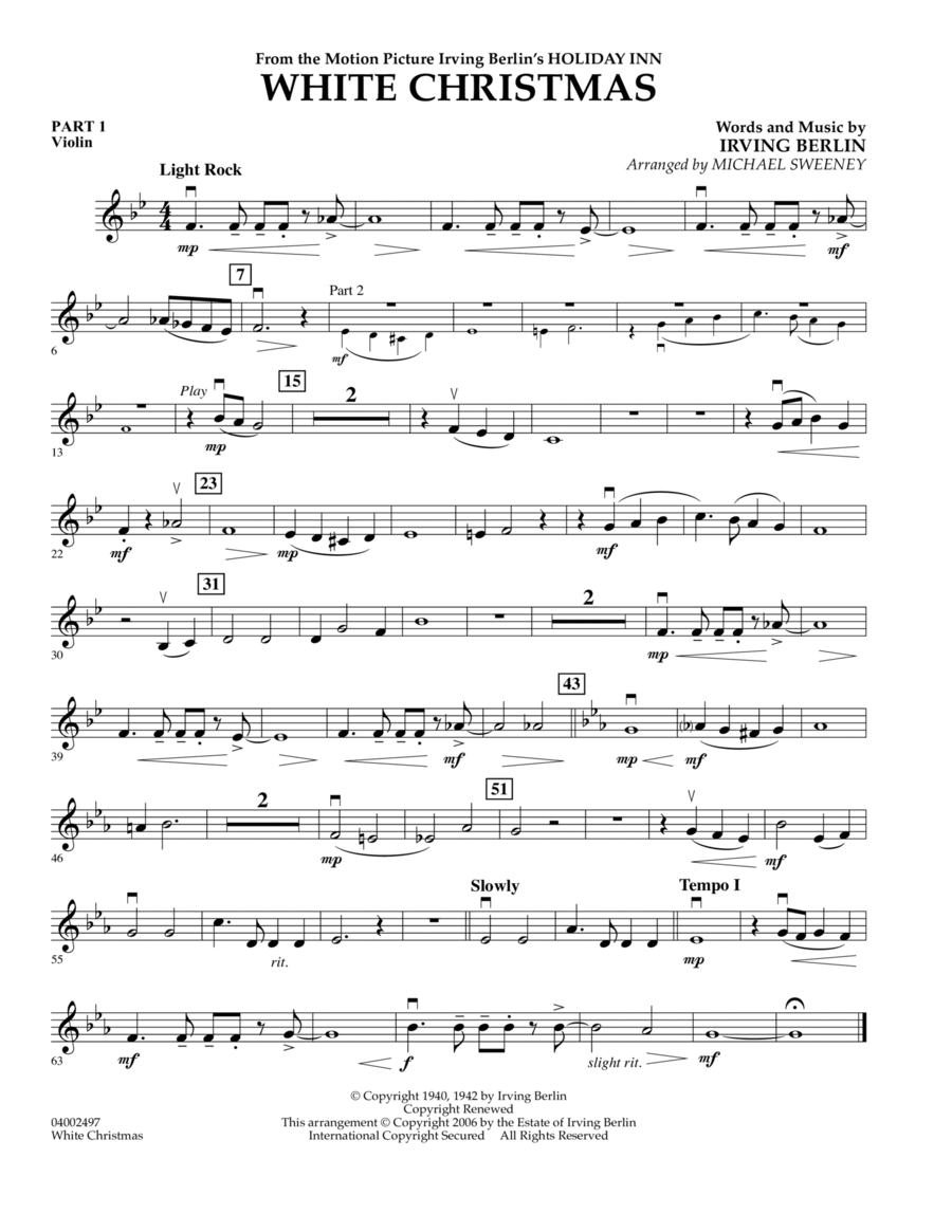 White Christmas (Flex-Band) - Pt.1 - Violin