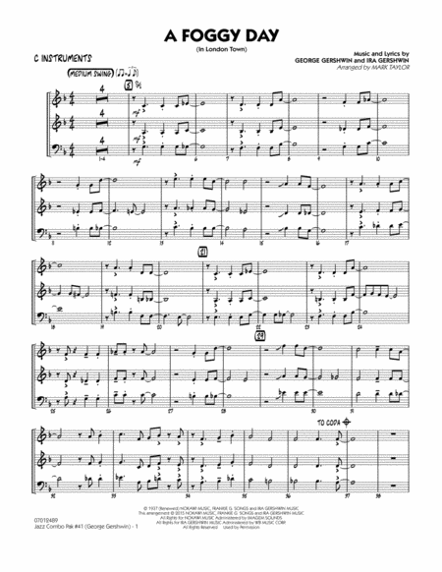 Jazz Combo Pak #41 (George Gershwin) - C Instruments