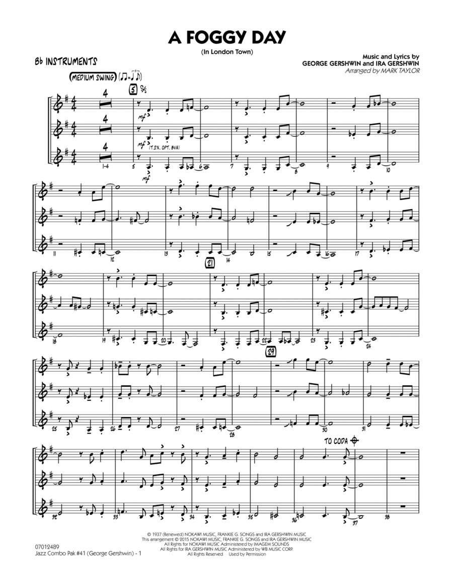 Jazz Combo Pak #41 (George Gershwin) - Bb Instruments